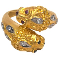 Double Lion Gold Ring Presented by Carol Marks