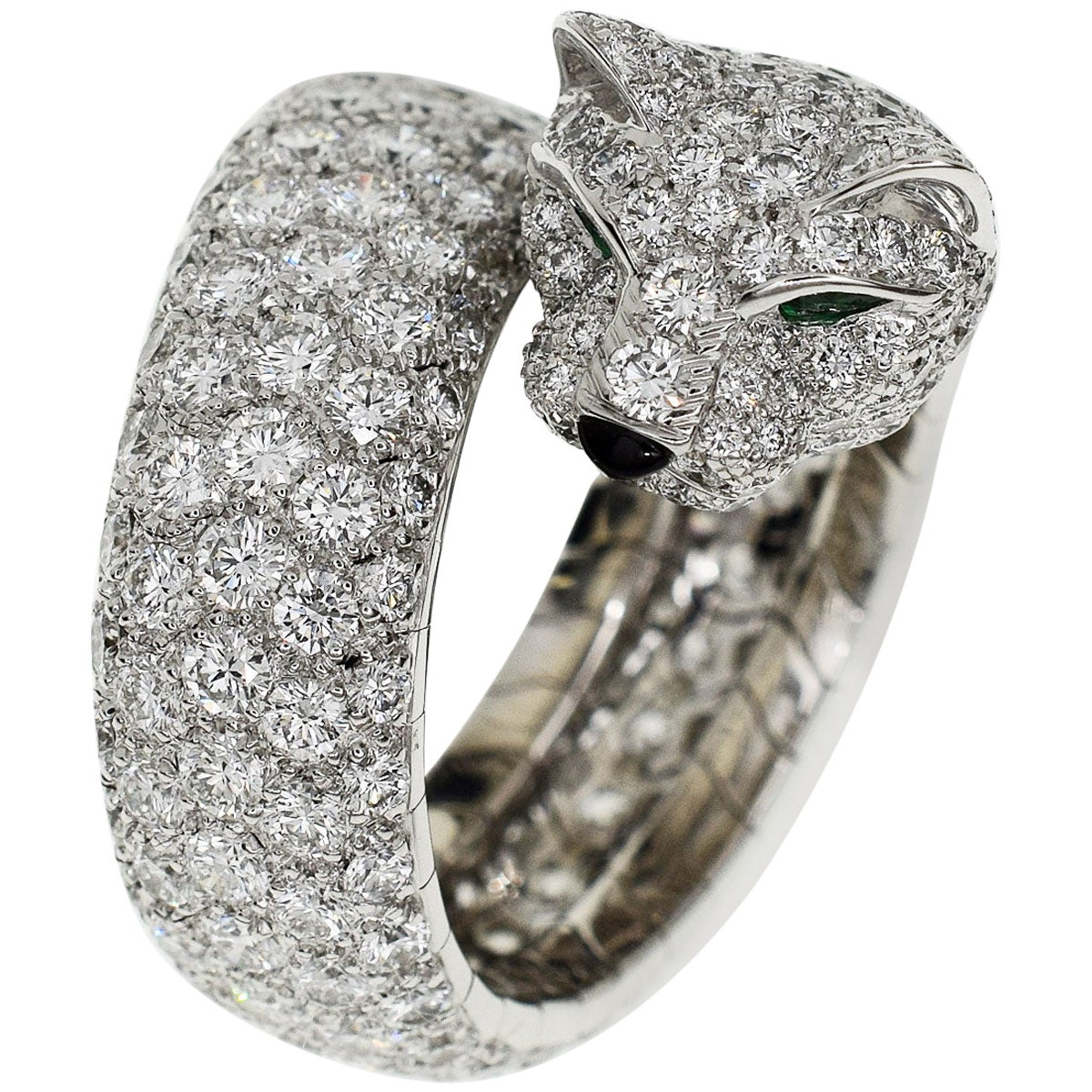 Cartier Diamond 18 Karat White Gold La Calda Panthere de Ring