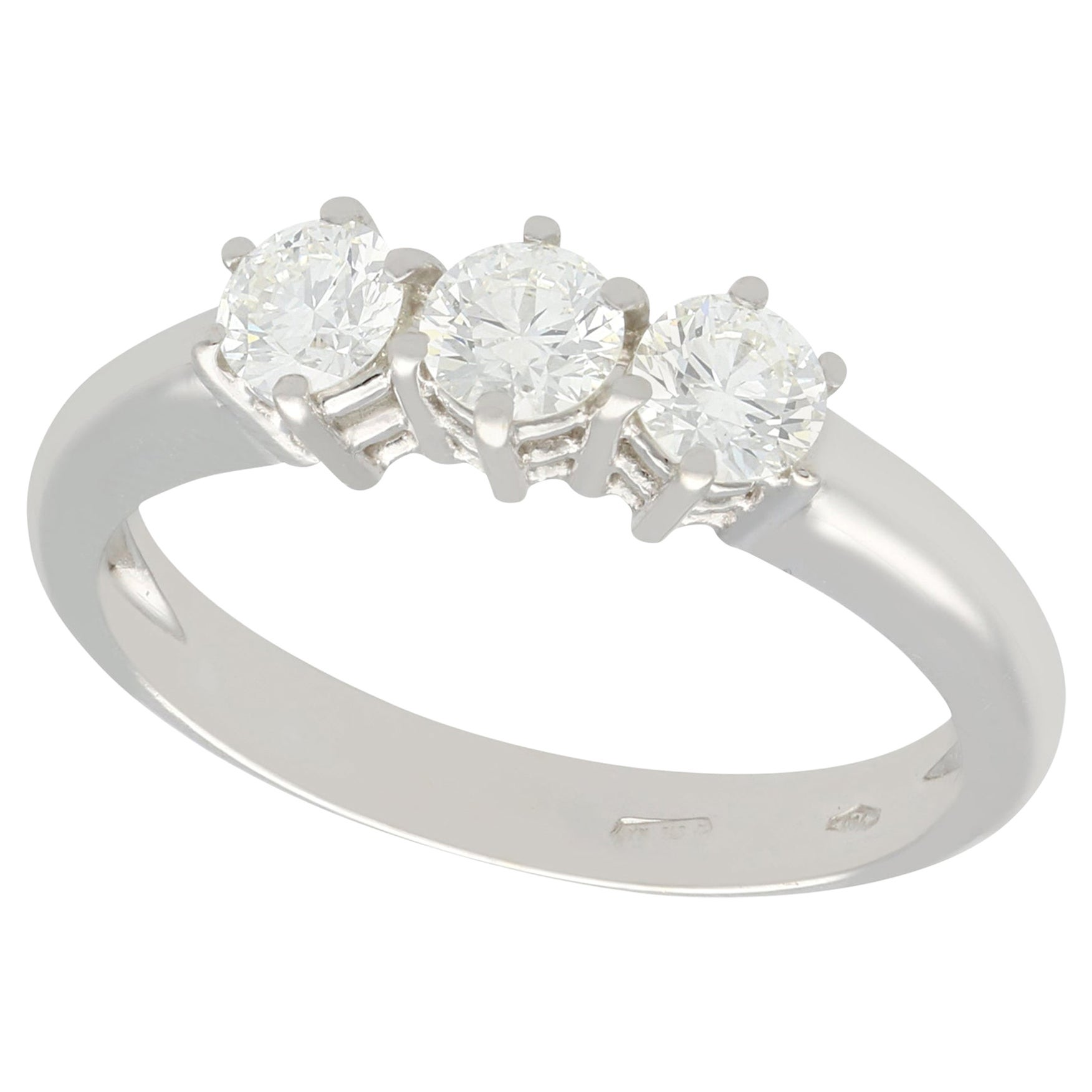Diamond and White Gold Trilogy Ring