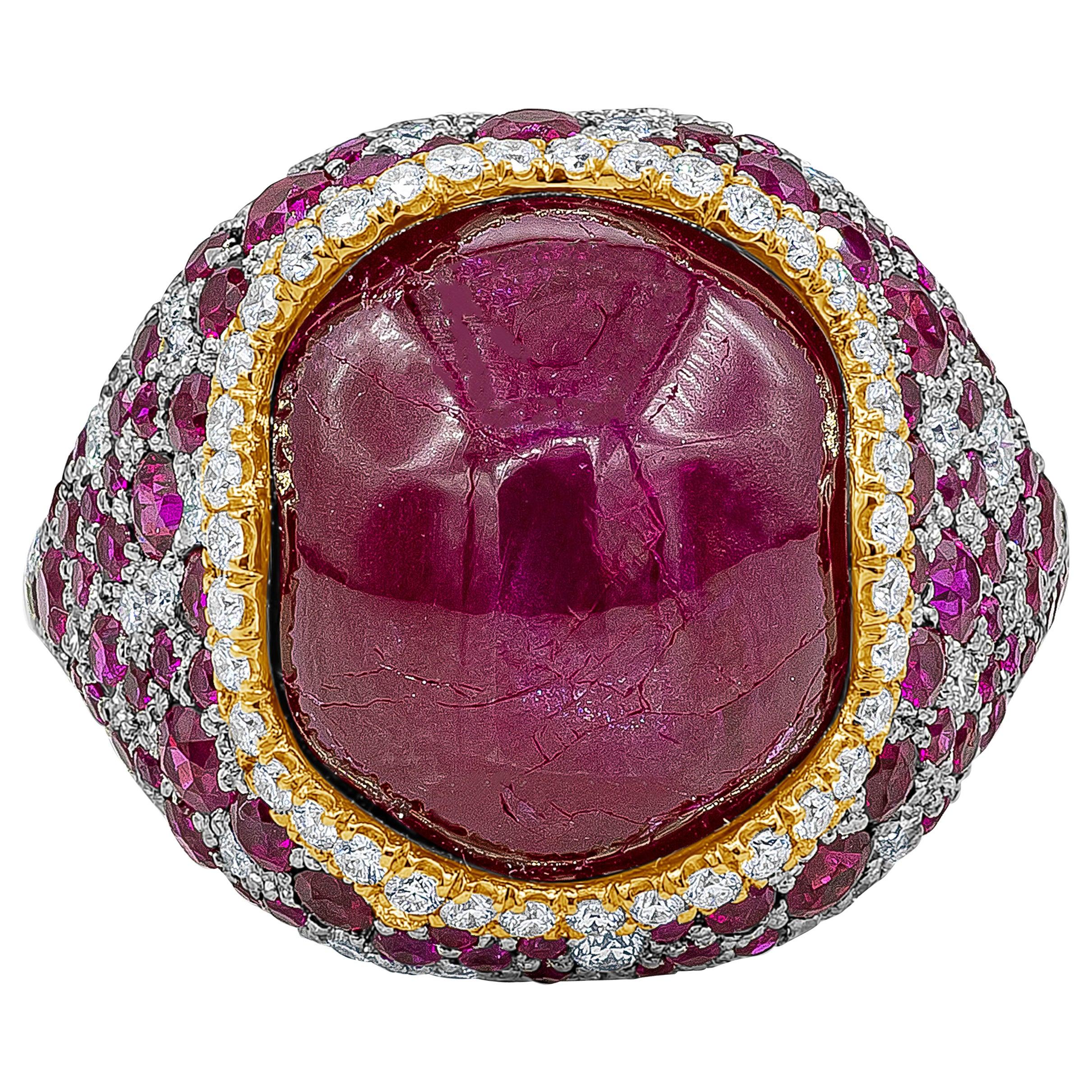 Roman Malakov, AGL Certified No Heat Burma Star Ruby and Diamond Ring