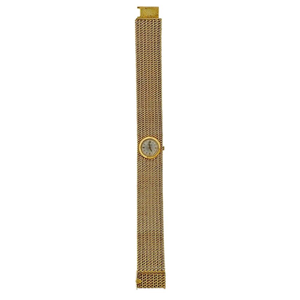 Rolex Midcentury Gold Ladies Watch Bracelet