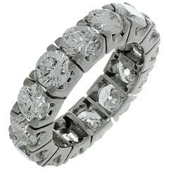 Harry Winston Diamond Platinum Eternity Band Ring Sz.6.5