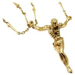 Salvador Dali Christ Saint John On The Cross Gold Necklace Bracelet