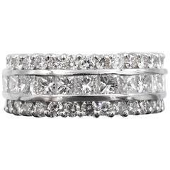 Diamond Platinum Band Ring