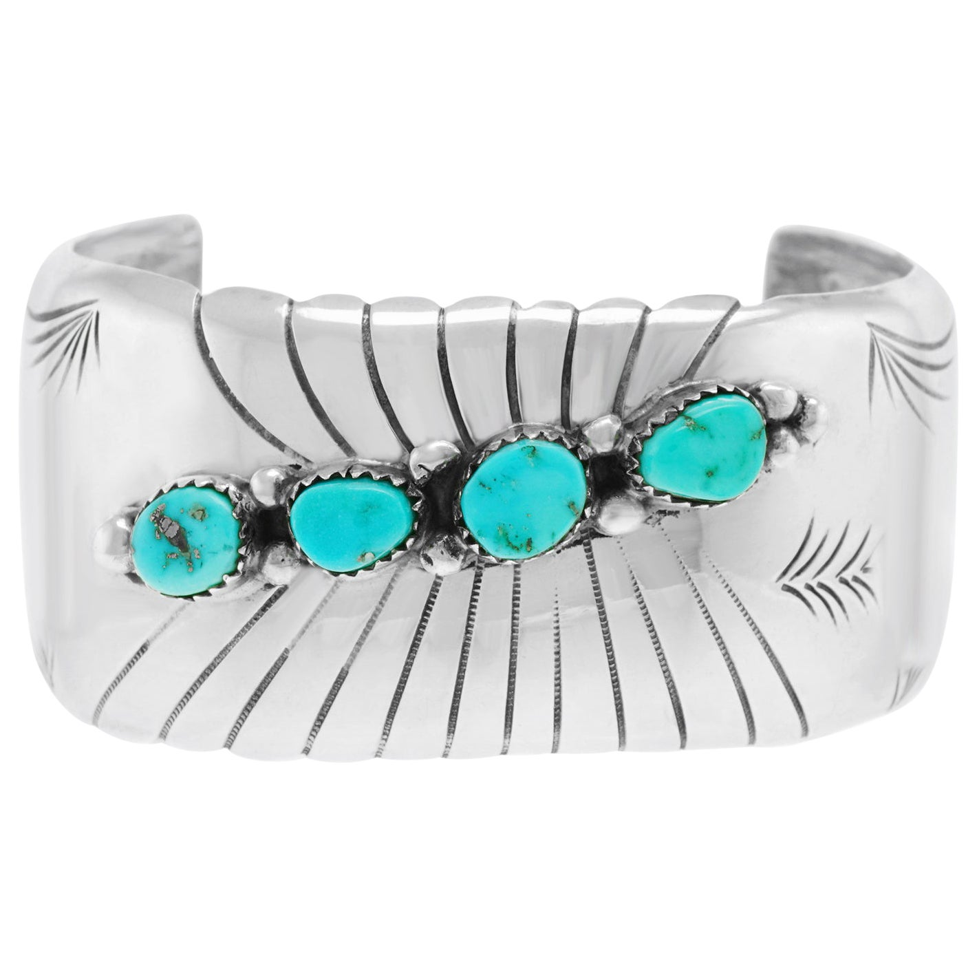 Navajo Sterling and Turquoise Cuff Bracelet