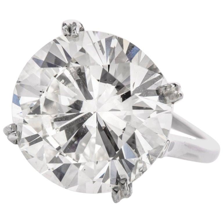 10.02 Carat Round Diamond Platinum Solitaire Engagement Ring