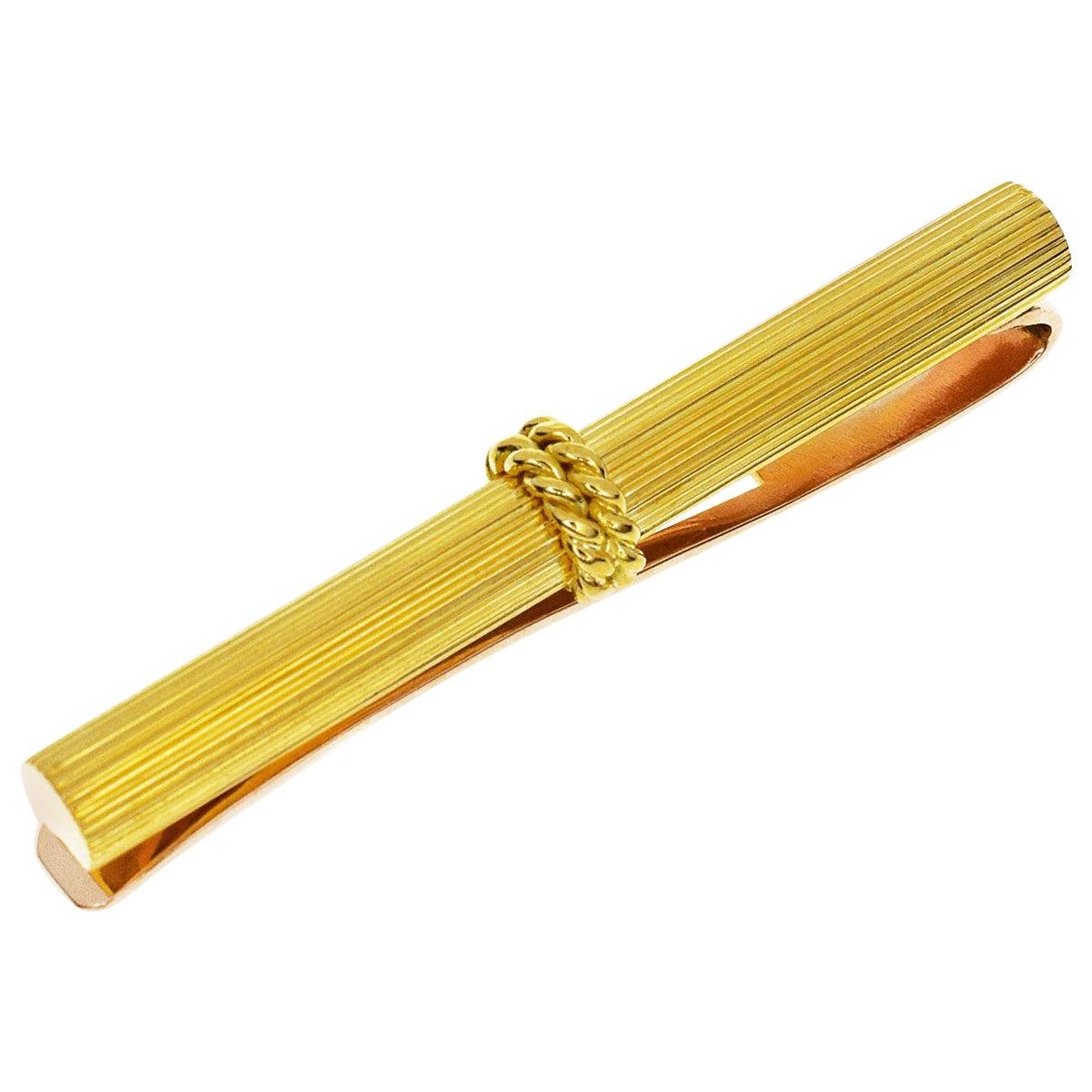 Van Cleef & Arpels 18 Karat Yellow Gold Pink Gold Tie Pin