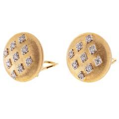 Buccellalti diamond gold ear clips