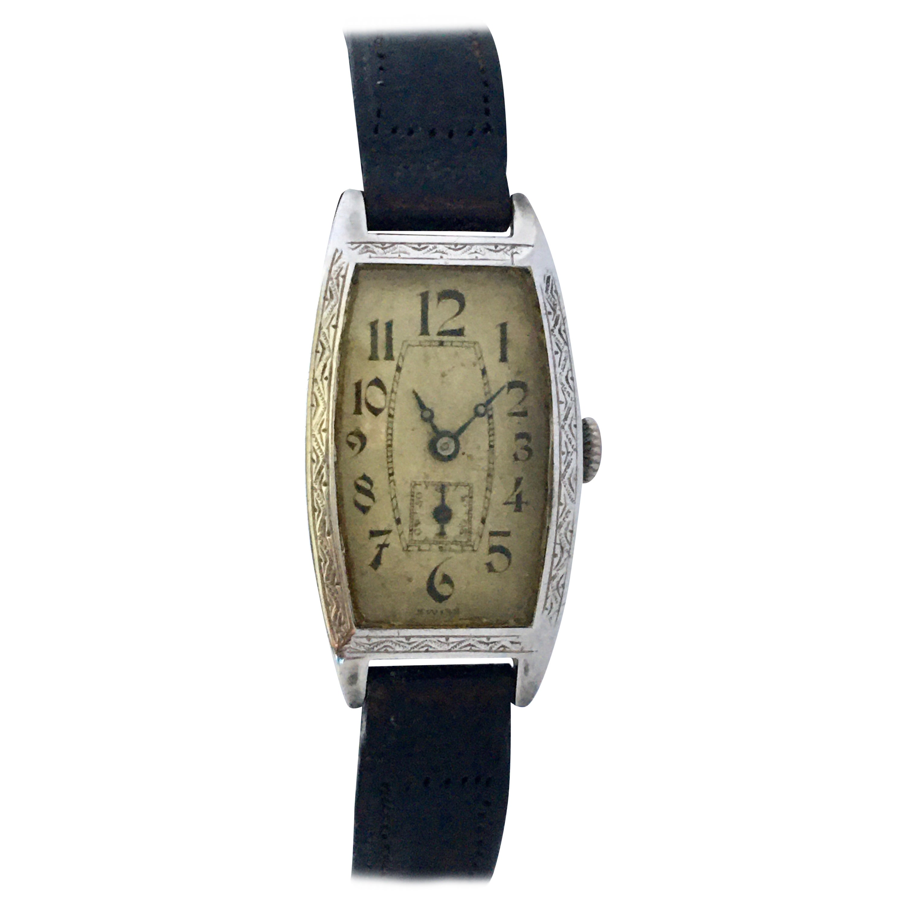 Vintage 1930s Silver Invicta Mechanical Watch