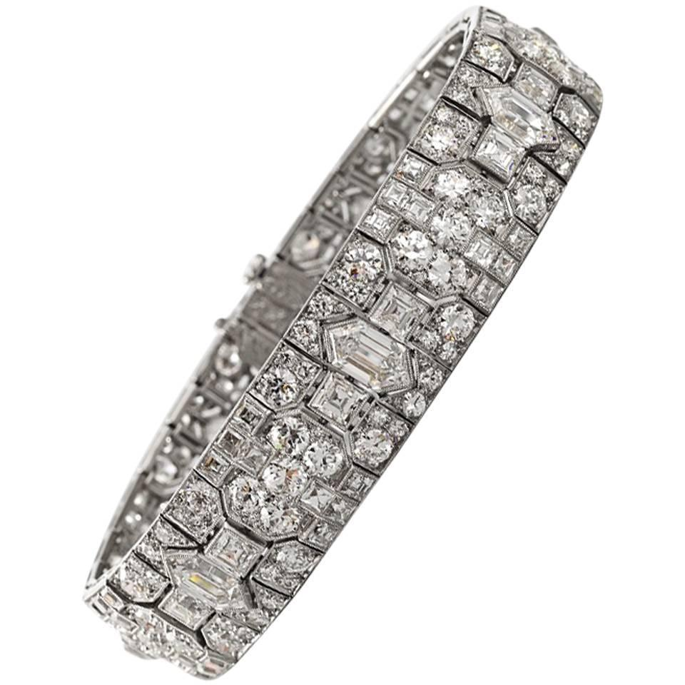tiffany and co art deco diamond and platinum bracelet at 1stdibs. Black Bedroom Furniture Sets. Home Design Ideas