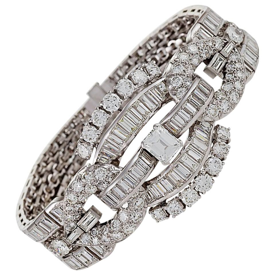 Flexible Harness Diamond Link Bracelet