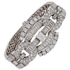 1950s Diamond and Platinum Bracelet