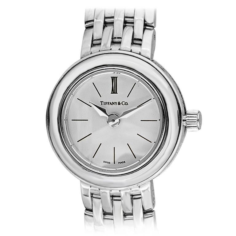 Tiffany & Co. Lady's White Gold Wristwatch