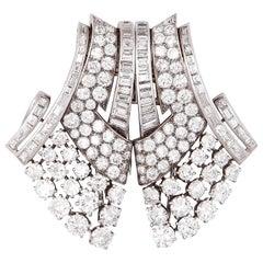 Van Cleef & Arpels Paris Double Diamond Platinum Clips