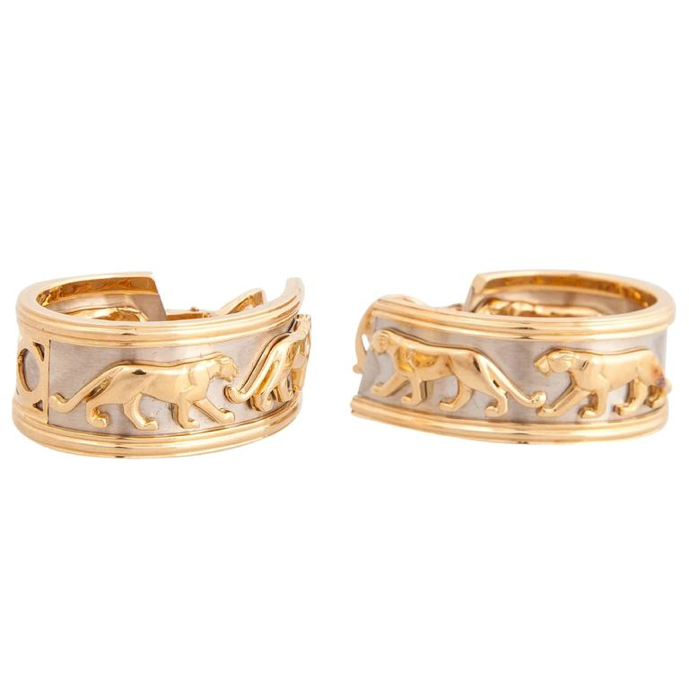 Cartier Panthere Yellow Gold Earrings