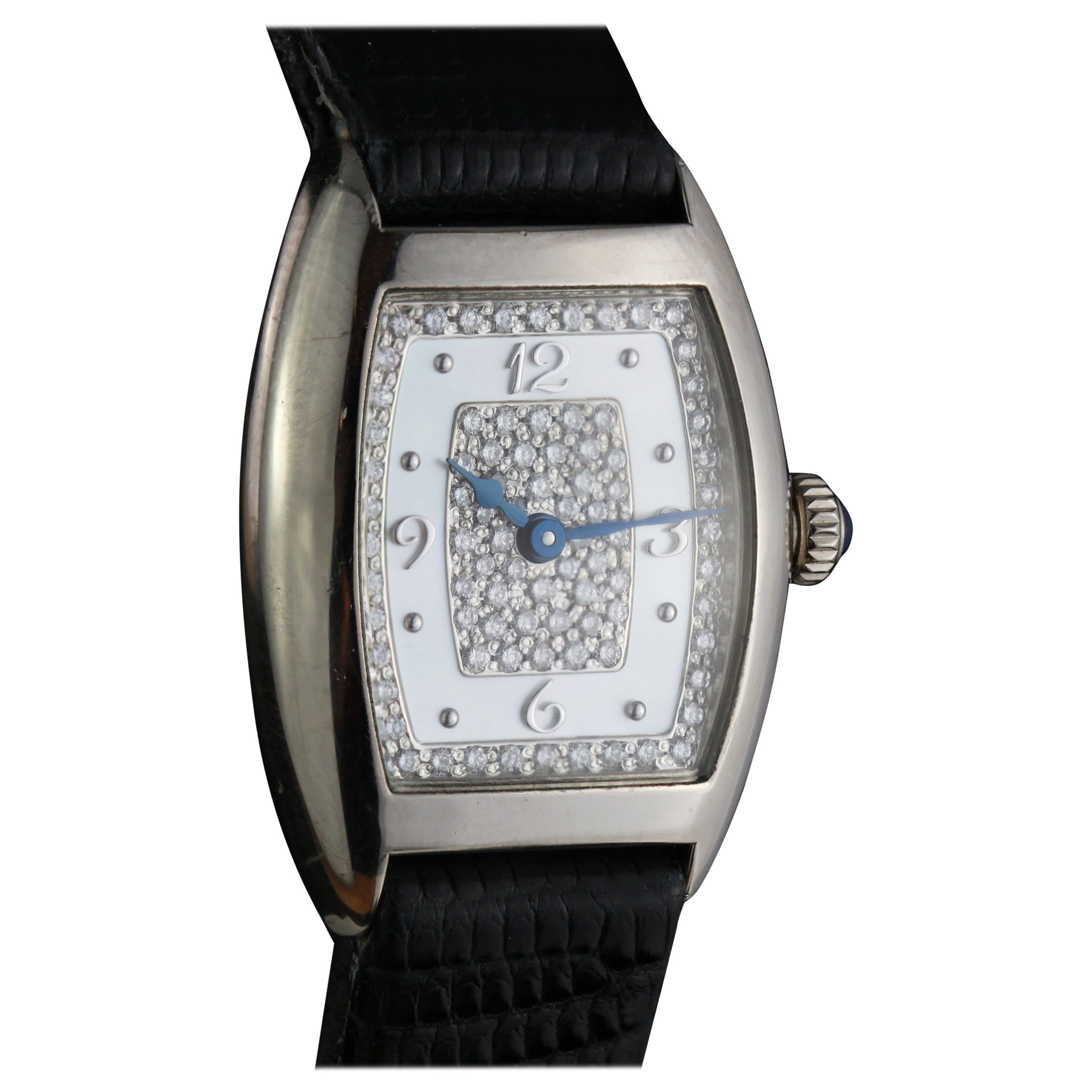 Franck Muller Ladies White Gold and Diamond Watch