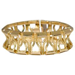 1980s Gold Flexible Bangle Bracelet