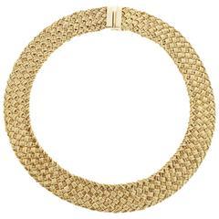 Sparkling and Shimmering YURI ICHIHASHI Woven Link Choker Necklace