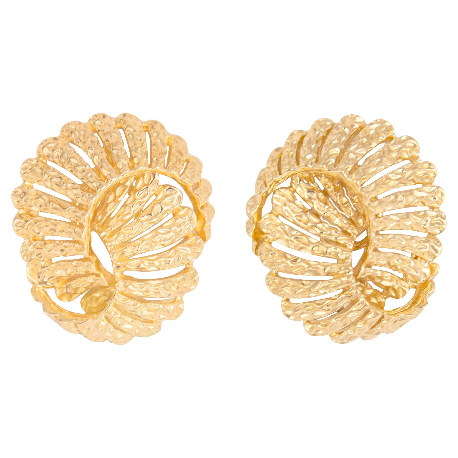 Vintage Tiffany & Co. Textured Gold Earrings