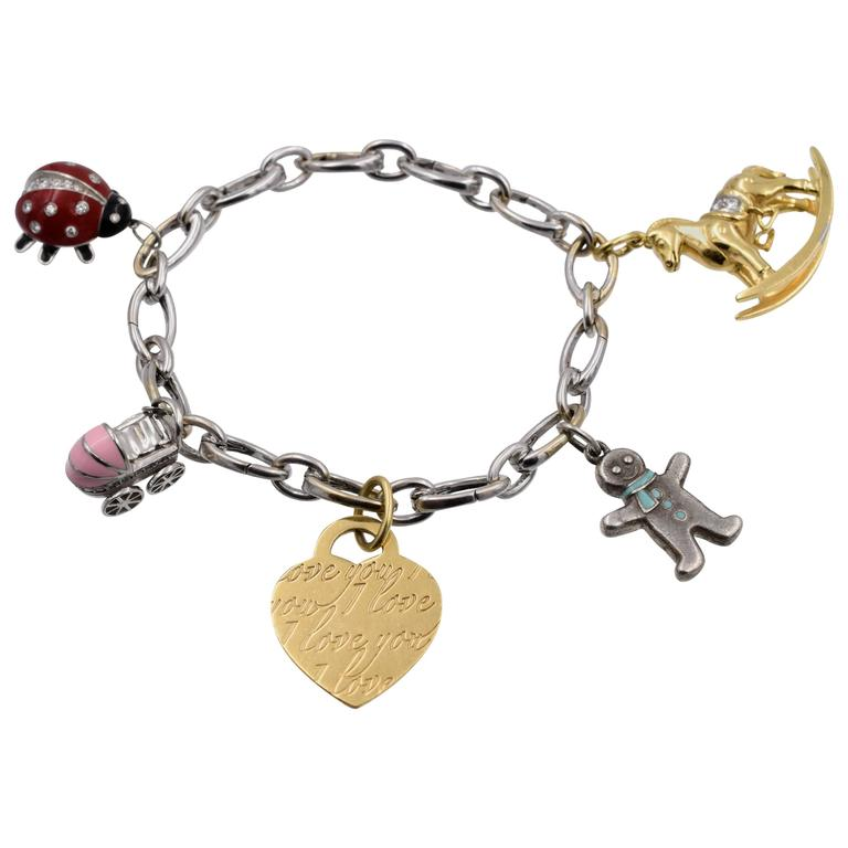 Tiffany And Co Charm Bracelet At 1stdibs