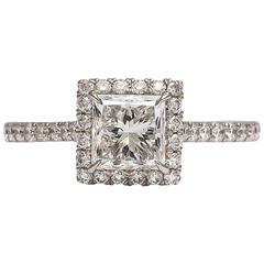 Dazzling Princess Cut Halo Ring