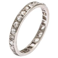 1900 Antique Diamond Platinum Eternity Band Ring