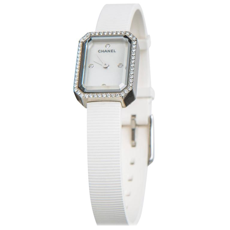 Chanel Stainless Steel Premiere Diamond Bezel Strap Quartz Wristwatch 1
