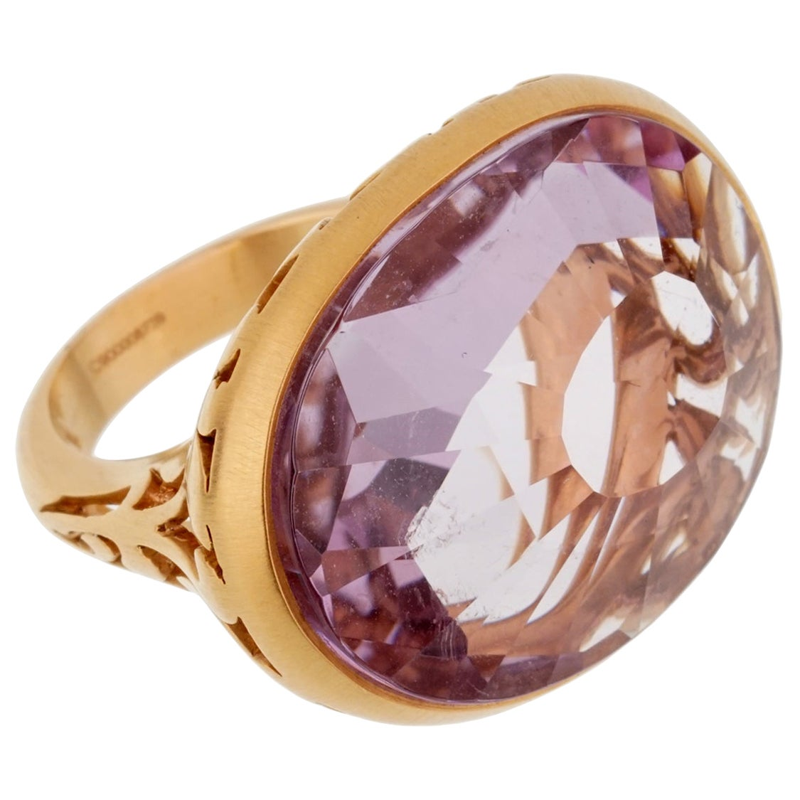 Pomellato 10 Carat Amethyst Cocktail Rose Gold Ring