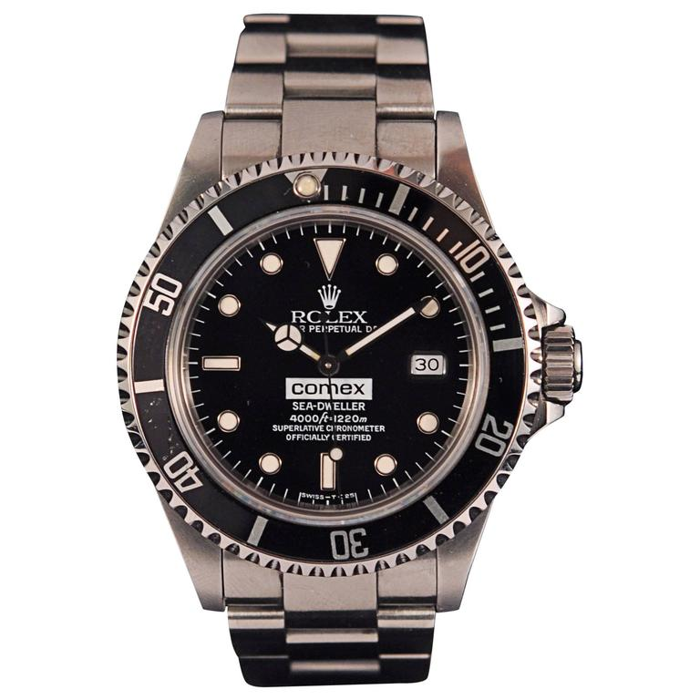 Rolex Stainless Steel Sea-Dweller Comex 16600 diver's ...