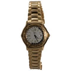 Ebel Yellow Gold GMT Voyager Wristwatch