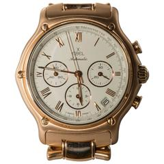 Ebel Yellow Gold Chronograph Wristwatch