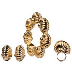 Cartier Magnificent Modernist Gold Set