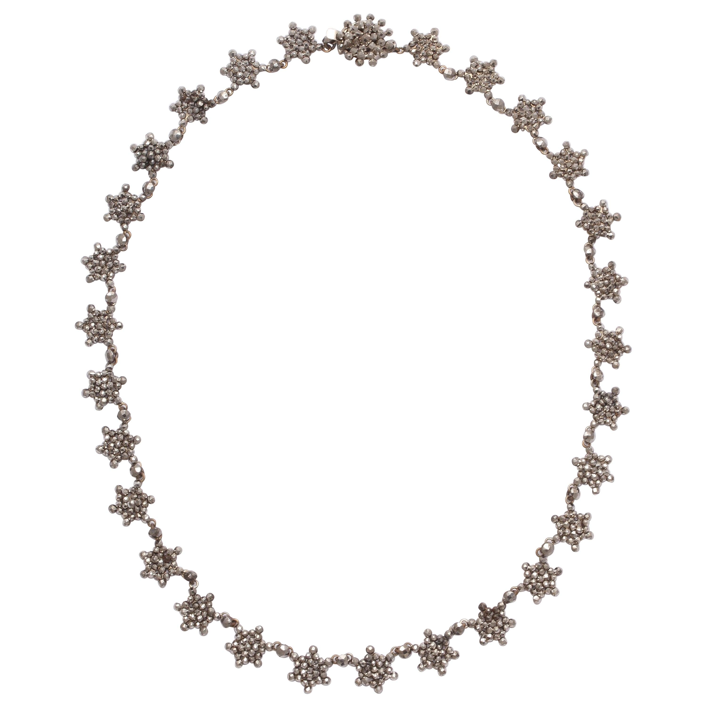 Antique Georgian Cut Steel Star Necklace