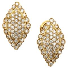 Dramatic Diamond Gold Earrings