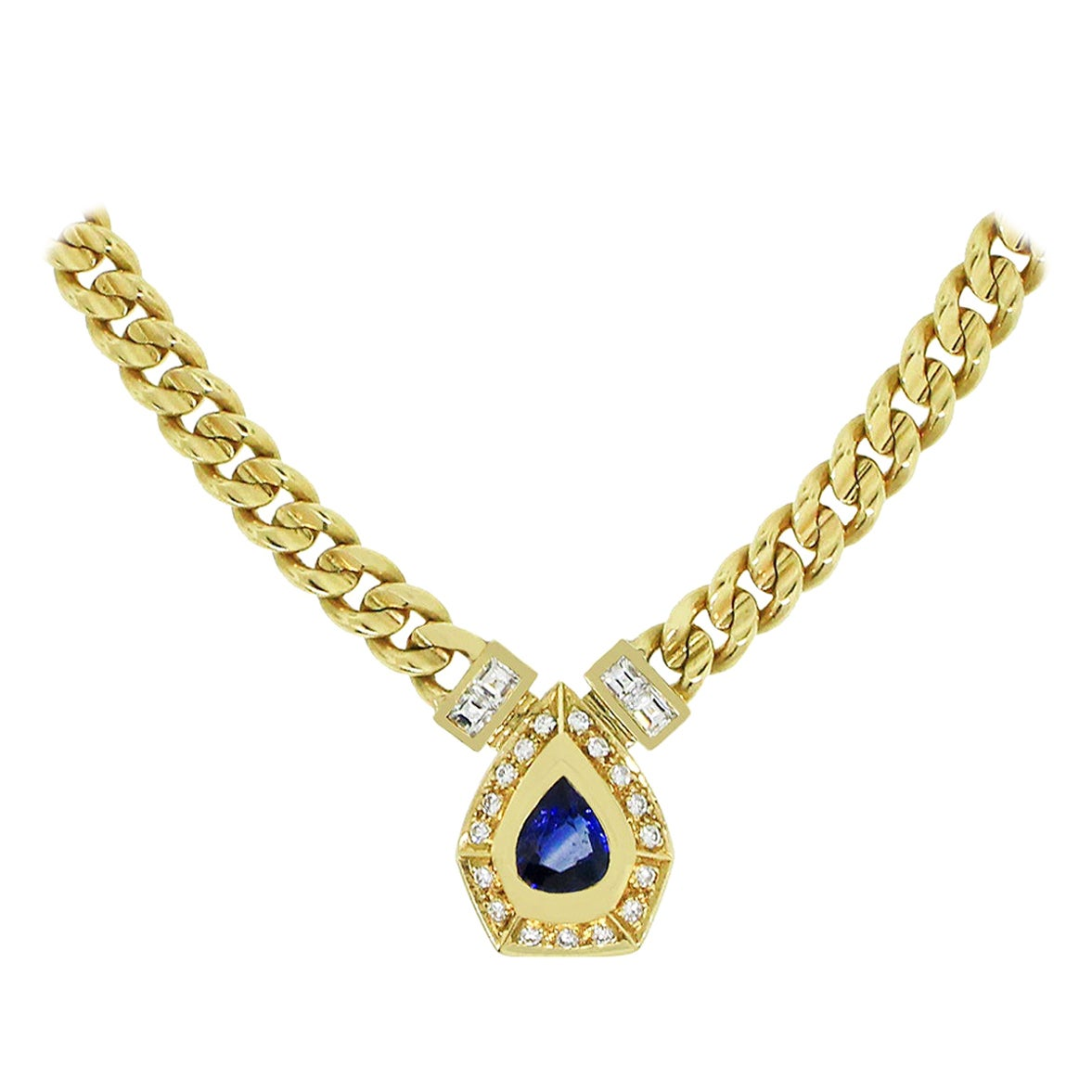 1 Carat Sapphire Necklace