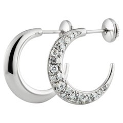 Pavé Earrings Traceable Diamond Size M in 18k White Gold by Rocks For Life