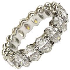 Oval Diamond Platinum Eternity Band Ring