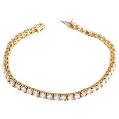 Van Cleef & Arpels Diamond Gold Tennis Bracelet