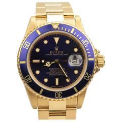 Rolex Submariner Date Yellow Gold Ref 16808
