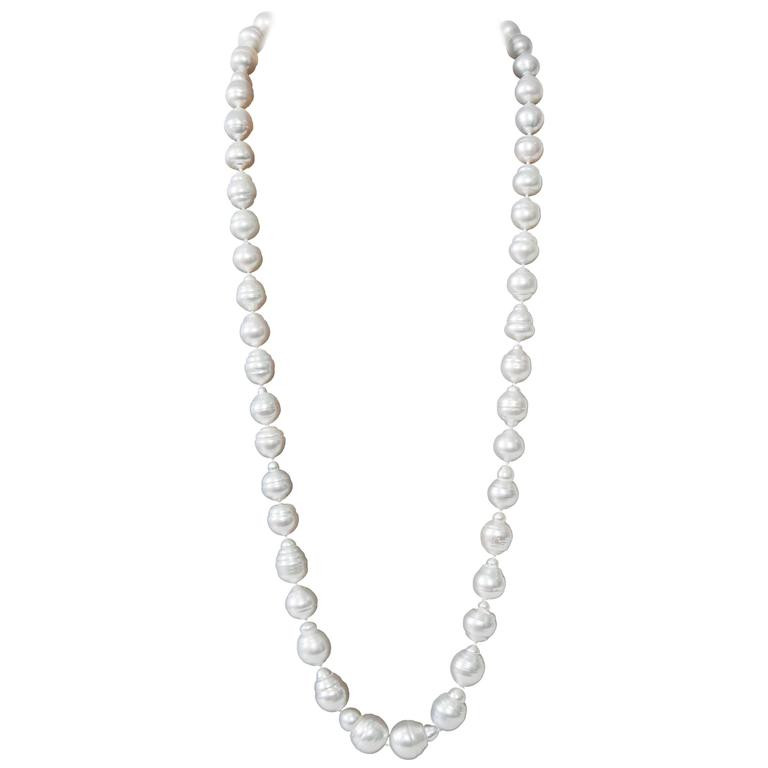 South Sea Pearls Baroque Necklace For Sale