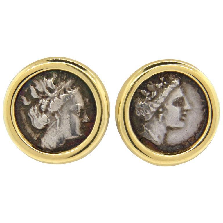 bulgari monete gold ancient coin earrings 1