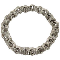 Jona White Diamond 18 Karat White Gold Chain Bracelet