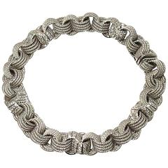 Jona Diamond 18k White Gold Link Bracelet