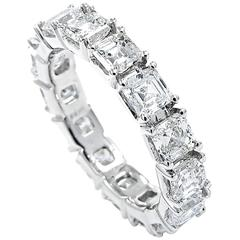 Asscher Cut Diamond gold Eternity Band ring