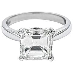 GIA Certified 3.06 Carat Emerald Cut Diamond Engagement Ring