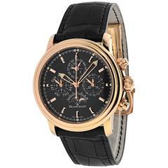 Blancpain Rose Gold Leman Flyback Chrono Perpetual Calendar Wristwatch