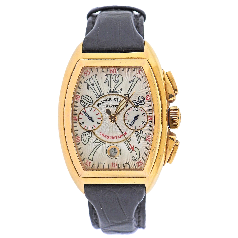 Franck Muller Conquistador Chronograph Gold Watch 8005 CC