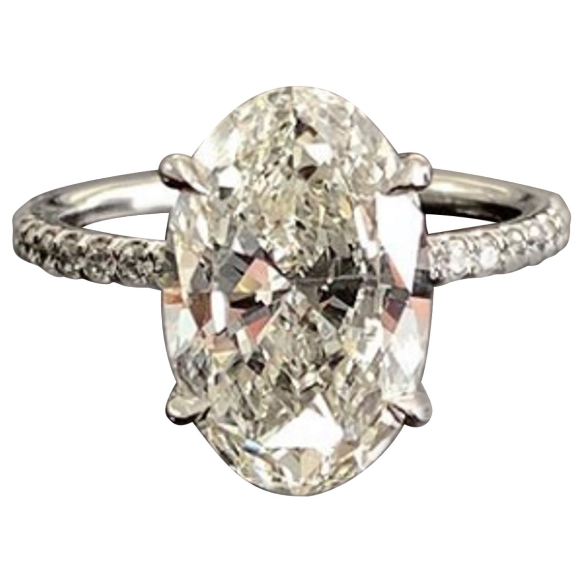 GIA Certified 2 Carat D SI1 Oval Cut Diamond Natural Engagement Ring
