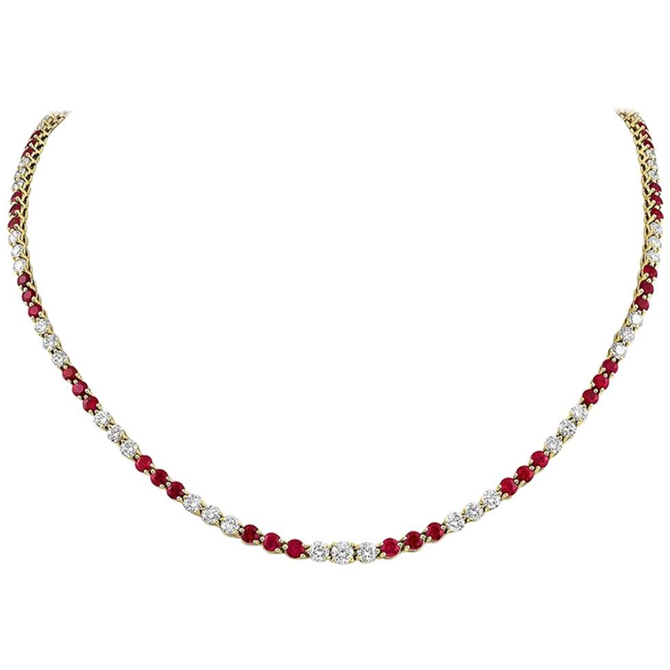 Tiffany & Co. Victoria Collection Ruby Diamond Necklace