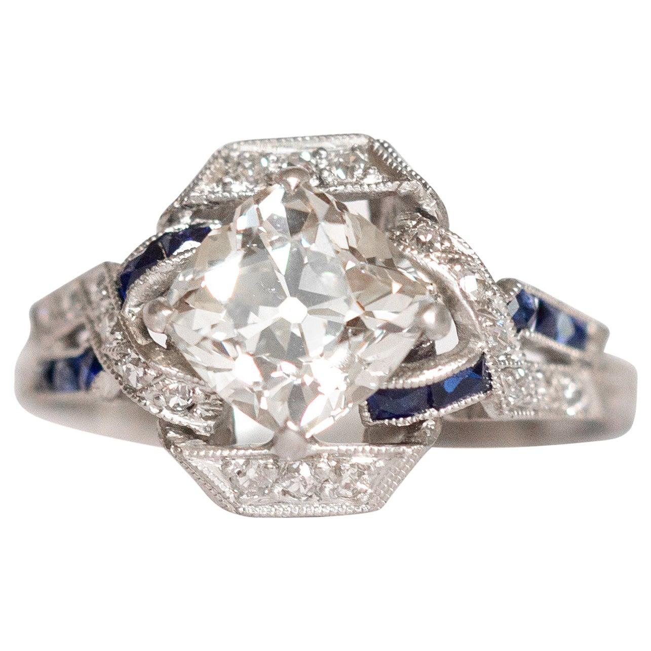 1.56 Carat Diamond Platinum Engagement Ring